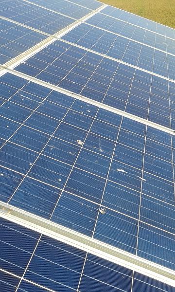 pannelli fotovoltaici sporchi
